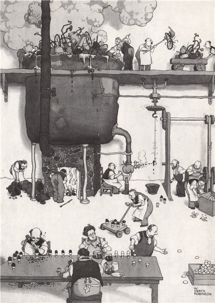 Associate Product HEATH ROBINSON. Egg armour plating. Gastronomic 1973 old vintage print picture