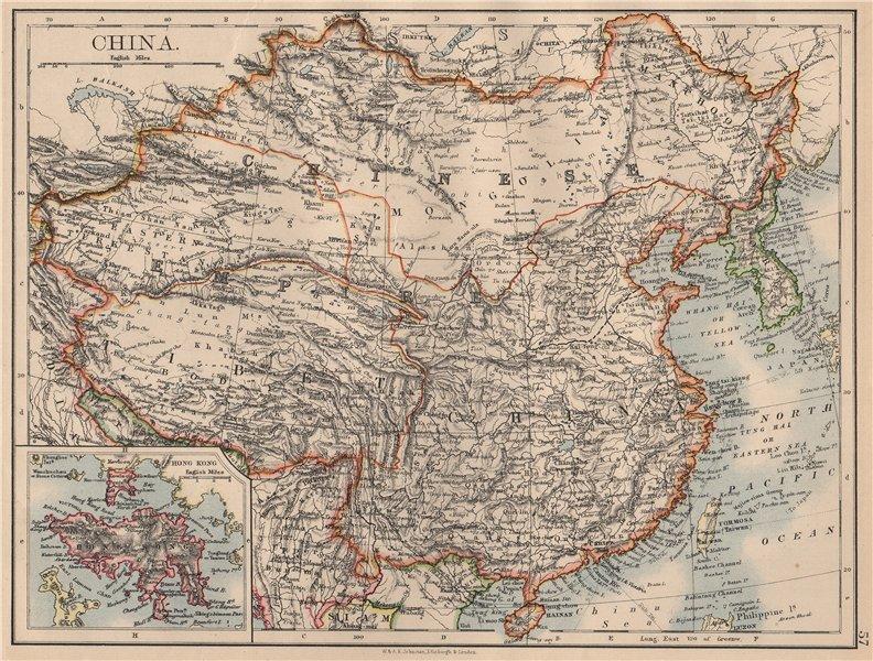 Associate Product CHINESE EMPIRE. China East Asia Tibet Mongolia East Turkestan Korea 1897 map