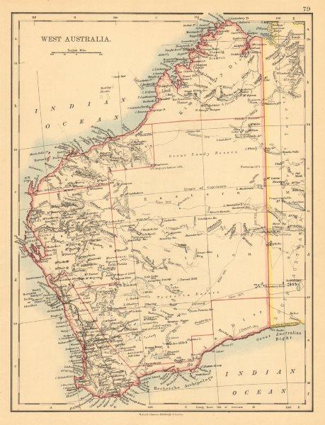 Associate Product WEST AUSTRALIA.Goldfields Explorers route Giles Forrest Warburton Roe 1897 map