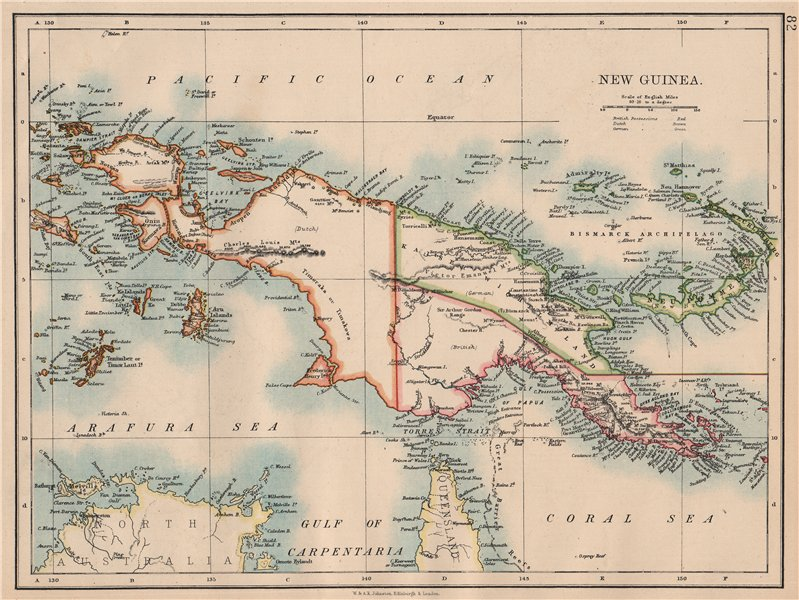 Associate Product COLONIAL NEW GUINEA. Kaiser Wilhelm Land. British & Dutch New Guinea  1897 map