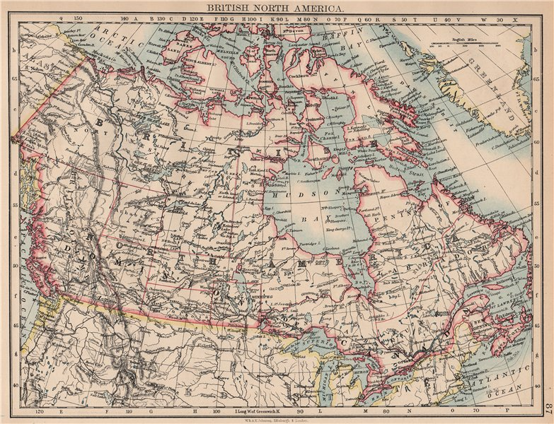 Associate Product BRITISH NORTH AMERICA. Colonial Canada. Canadian Pacific railroad 1897 old map