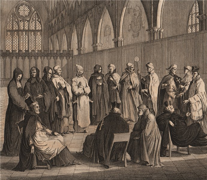 Associate Product Anglican clergy in church. GROSE 1776 old antique vintage print picture