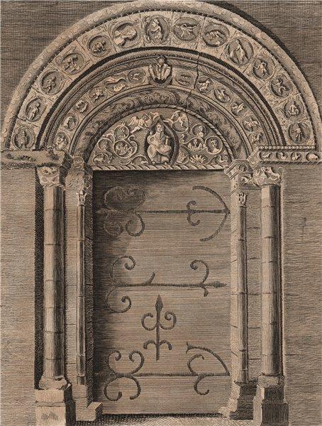 Associate Product BARFRESTONE CHURCH. 'The grand door of Barfreston Church in Kent'. GROSE 1776