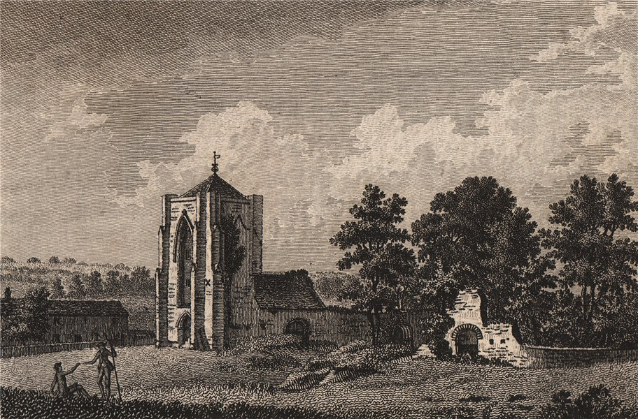 BEAUCHIEF PRIORY. Beechiff. Derbyshire. GROSE 1776 old antique print picture