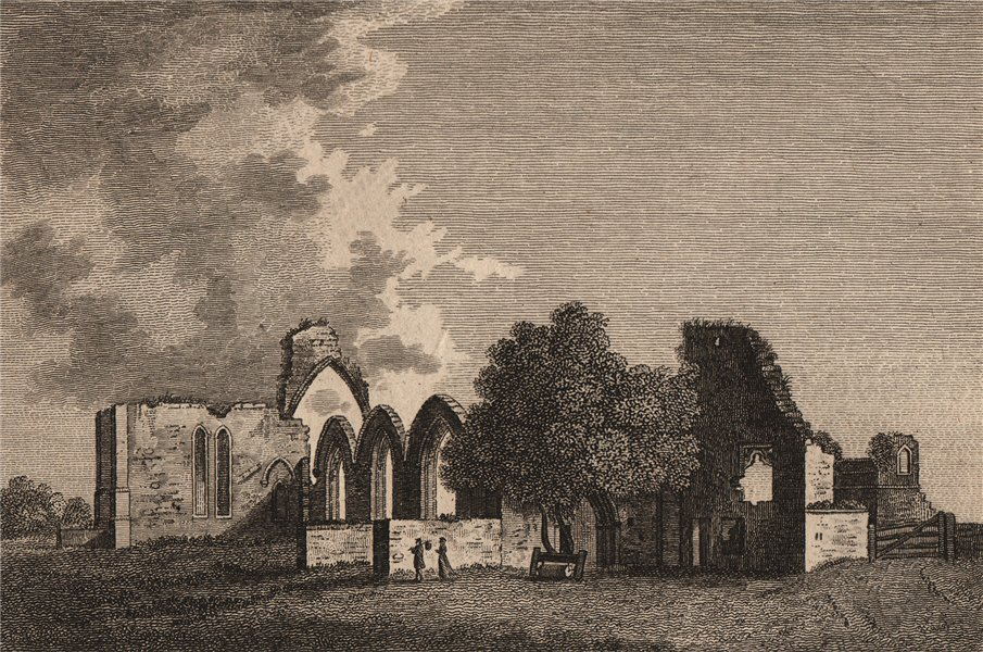 Associate Product FINCHALE PRIORY, in the Bishoprick of Durham. GROSE 1776 old antique print
