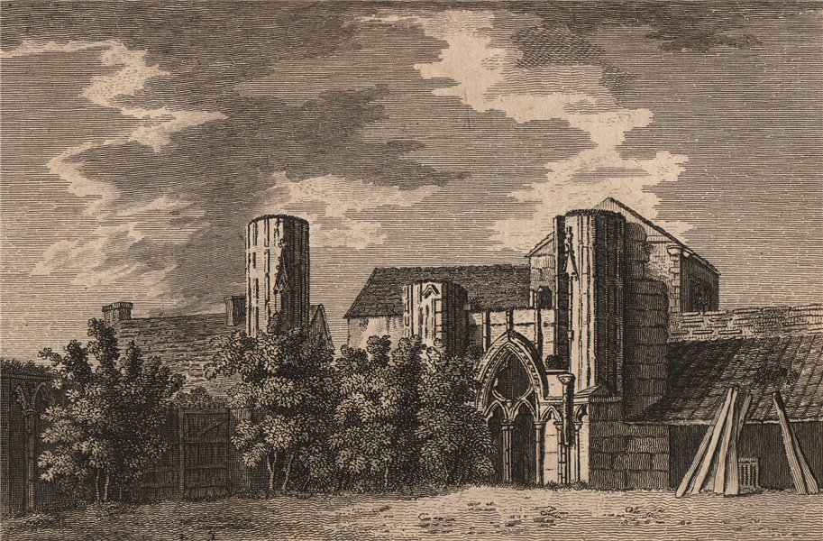 Associate Product THE CHAPTER HOUSE, HEREFORD, Herefordshire. GROSE 1776 old antique print