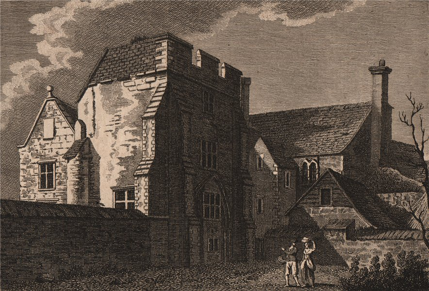 Associate Product ARCHBISHOP'S PALACE, CANTERBURY, Kent. The Great Hall. GROSE 1776 old print