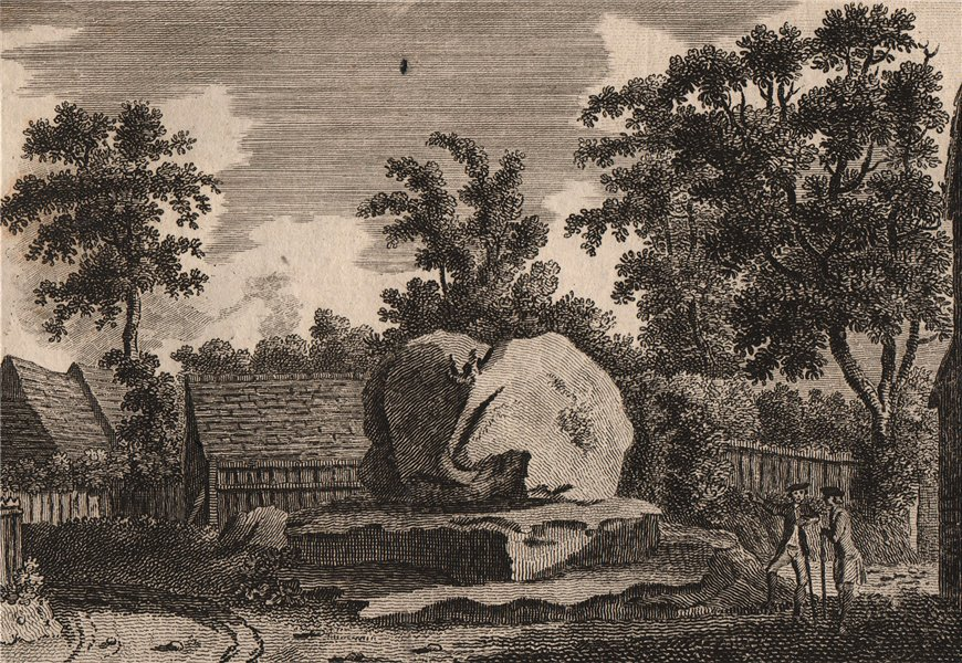 Associate Product THE CHIDING STONE, Chiddingstone, Kent. GROSE 1776 old antique print picture