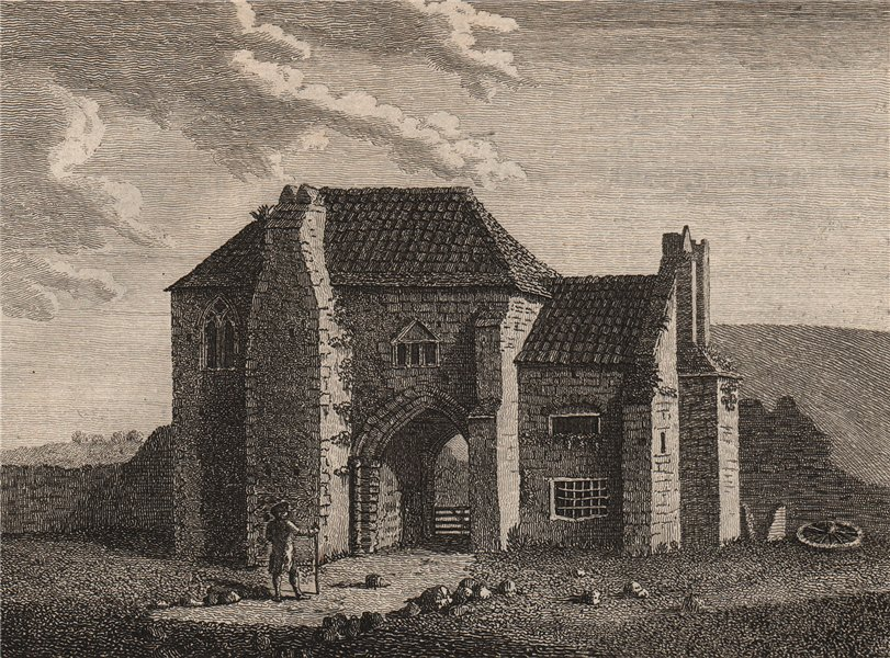 Associate Product ST. MARTIN'S PRIORY, or the Newarke, Dover, Kent. Plate 2. GROSE 1776 print