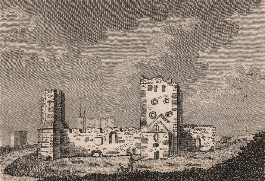 Associate Product DOVER CASTLE. The Old Church. Kent. GROSE 1776 antique print picture