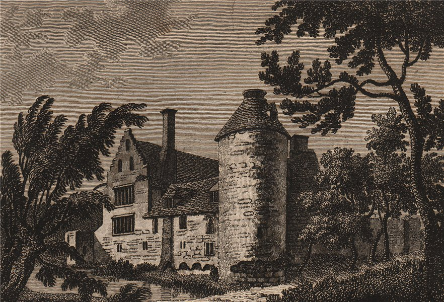 Associate Product WESTENHANGER, or Ostenhanger house, Kent. Plate 1. GROSE 1776 old print