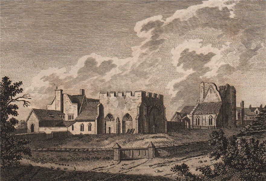 Associate Product WEST MALLING ABBEY, Kent. GROSE 1776 old antique vintage print picture
