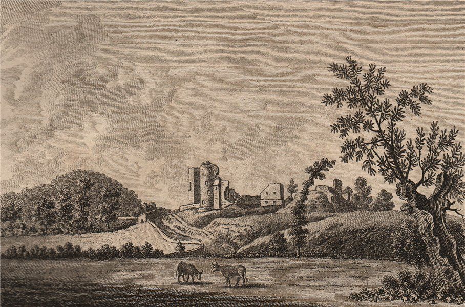 Associate Product ABERGAVENNY CASTLE, Monmouthshire Plate 2. GROSE 1776 old antique print