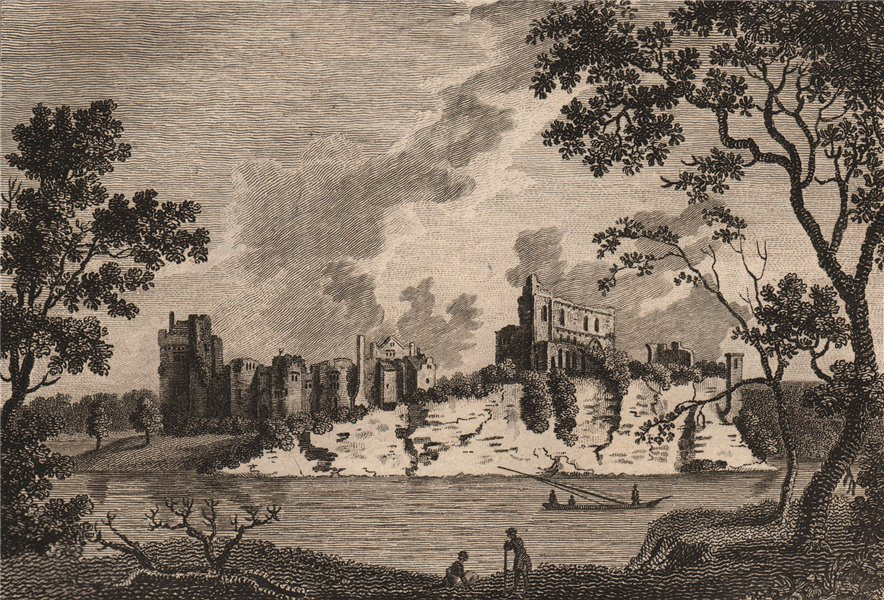 CHEPSTOW CASTLE, Monmouthshire. '..called Kaswent or Castelk Gwent'. GROSE 1776