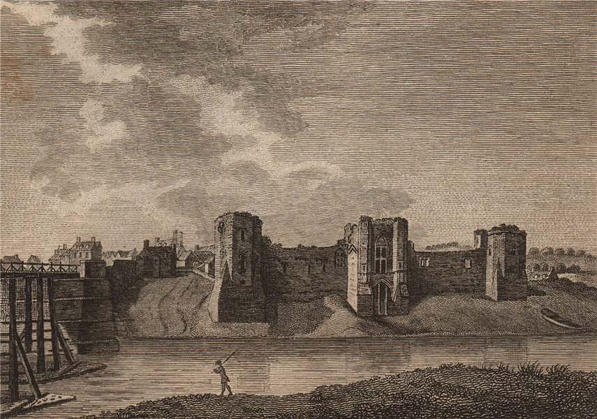 Associate Product NEWPORT CASTLE, 'or the New Castle upon Uske, Monmouthshire'. GROSE 1776 print