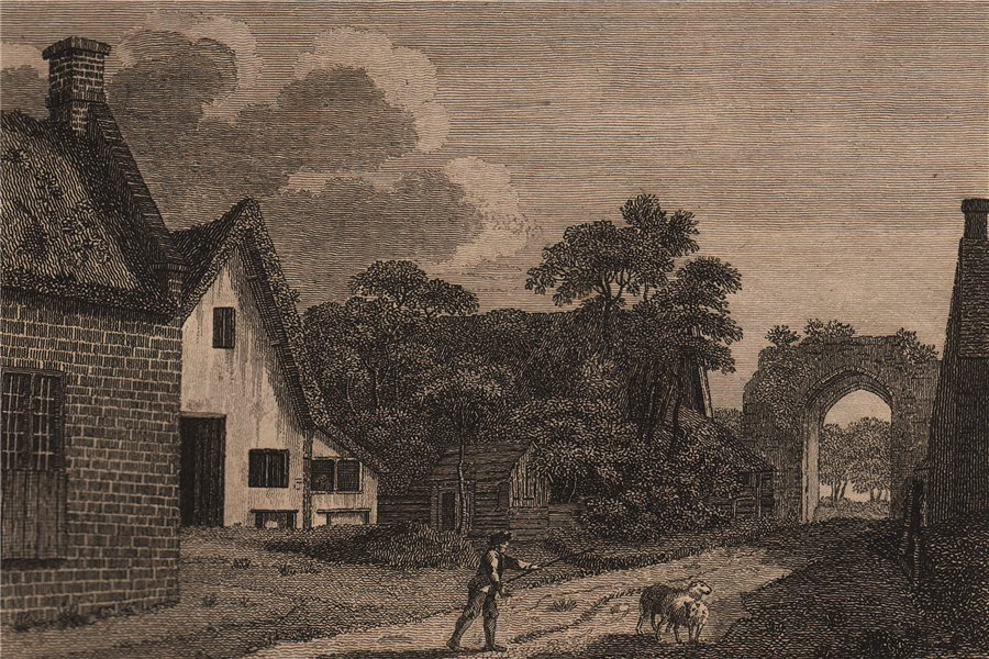 Associate Product CASTLE ACRE CASTLE, Norfolk. Plate 2. GROSE 1776 old antique print picture