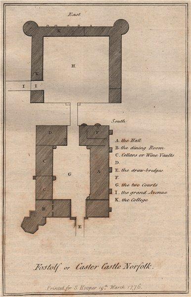 CAISTOR CASTLE. 'Fostolf or Caster Castle, Norfolk'. GROSE 1776 old print