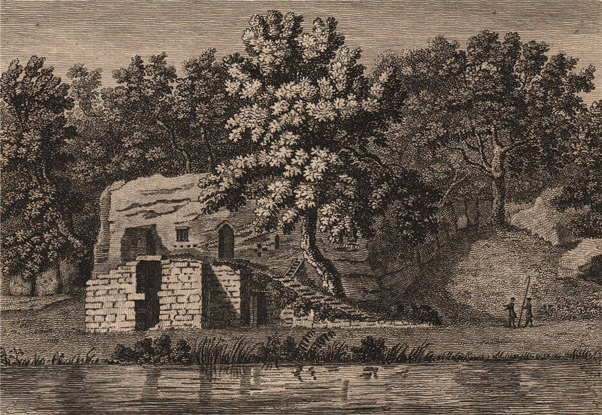 Associate Product THE HERMITAGE NEAR WARKWORTH, Northumberland. GROSE 1776 old antique print