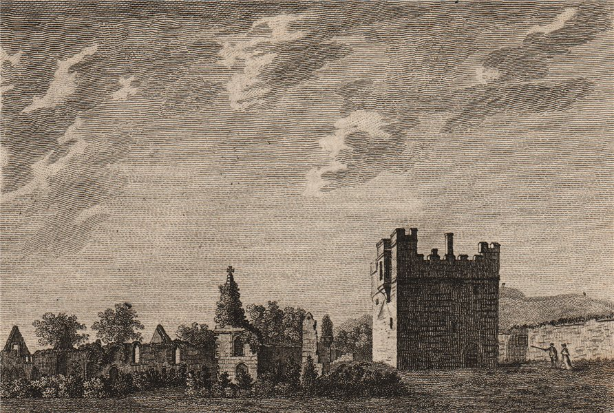 Associate Product HULNE PRIORY. 'Hulne Abbey, Northumberland'. Plate 3. GROSE 1776 old print