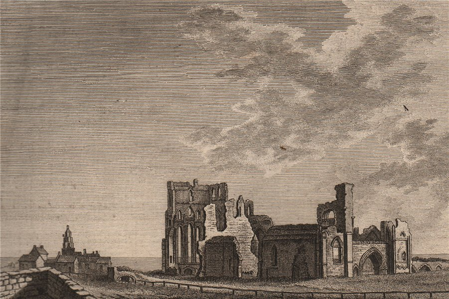 Associate Product TYNEMOUTH PRIORY & CASTLE, Northumberland. Plate 1. GROSE 1776 old print