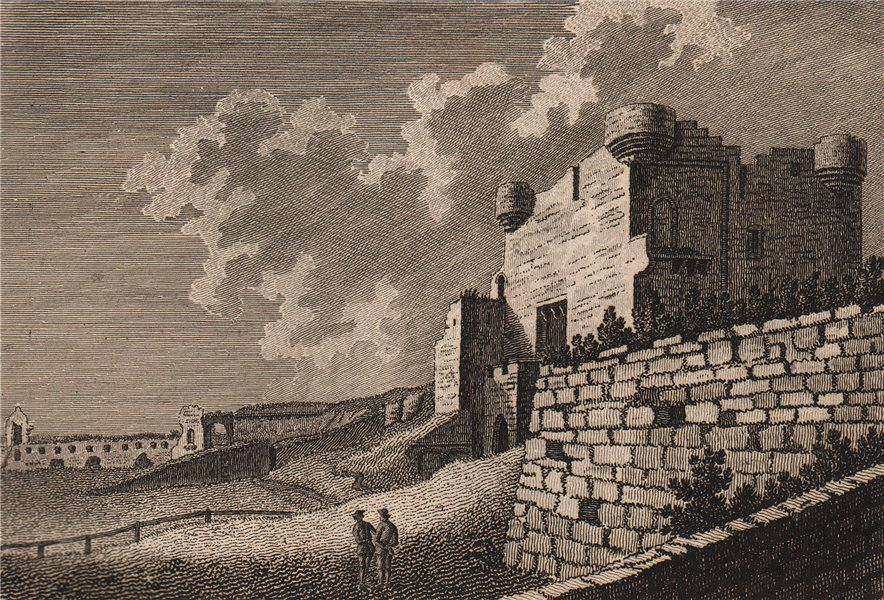 THE GATE OF TYNEMOUTH CASTLE, Northumberland. GROSE 1776 old antique print