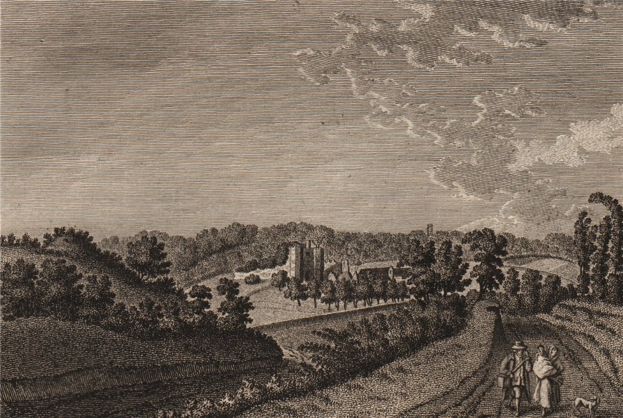 Associate Product BOTHAL CASTLE, Northumberland. 'Bothall Castle'. Plate 2. GROSE 1776 old print