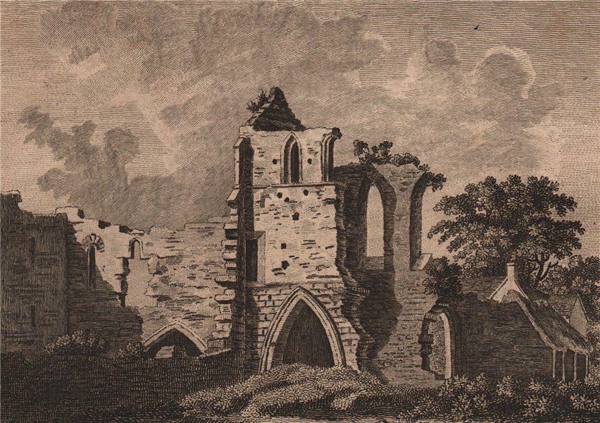 Associate Product CLEEVE ABBEY. 'Cleve Abby, Somersetshire'. GROSE 1776 old antique print