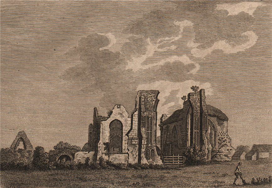 Associate Product LEISTONE ABBEY, Suffolk. 'Leystone Abbey'. GROSE 1776 old antique print