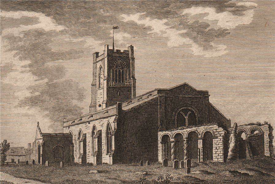 Associate Product ORFORD CHAPEL, Suffolk. Plate 3. GROSE 1776 old antique vintage print picture