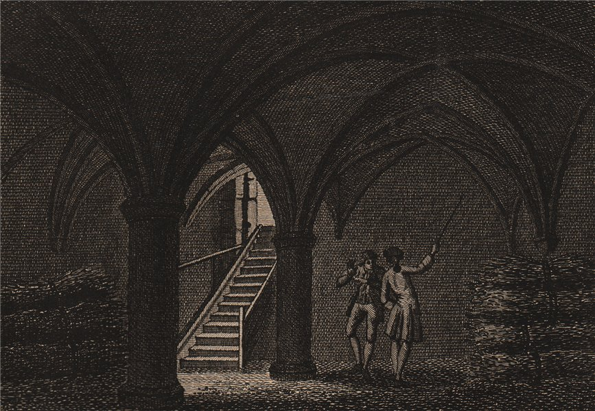 Associate Product GUILDFORD. The ancient crypt. Surrey. GROSE 1776 old antique print picture