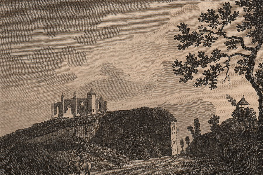 Associate Product ST CATHERINE'S HILL, Guildford, Surrey. GROSE 1776 old antique print picture