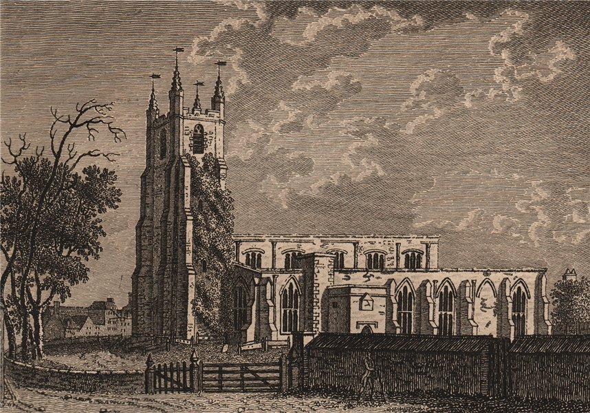 Associate Product CROYDON CHURCH, Surrey, London. GROSE 1776 old antique vintage print picture