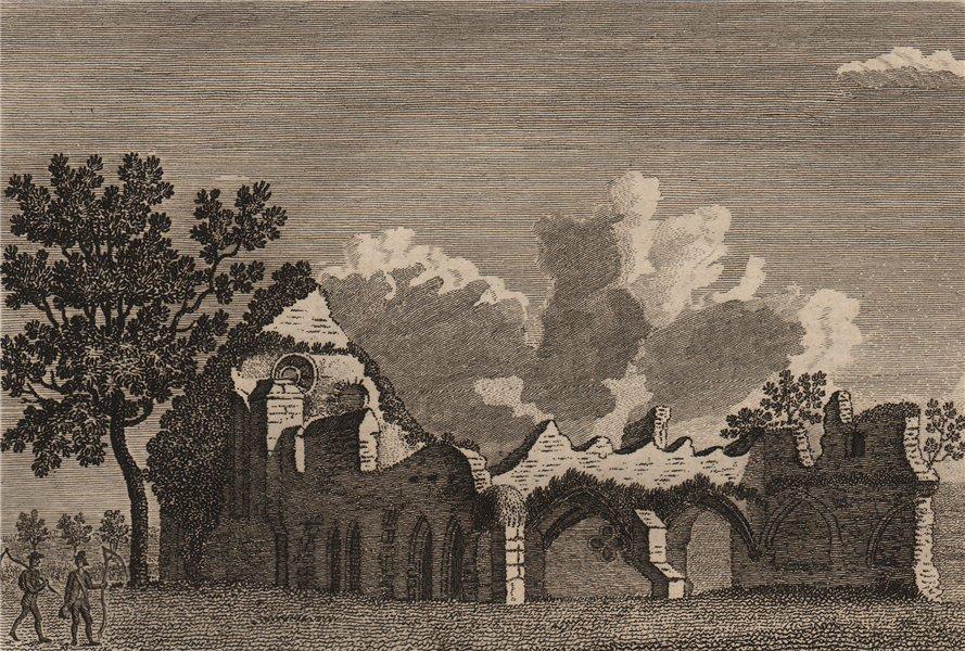 WAVERLEY ABBEY, Surrey. Plate 1. GROSE 1776 old antique vintage print picture