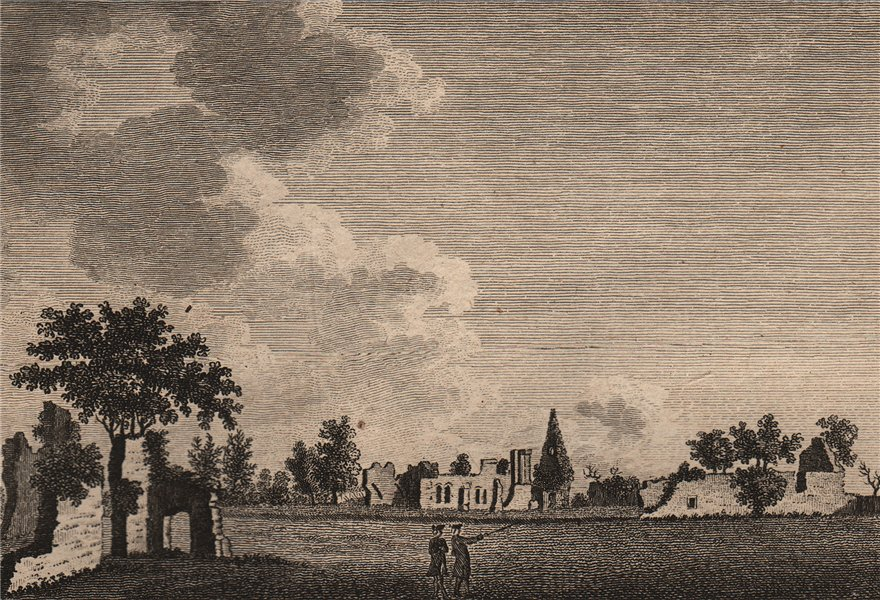 Associate Product WAVERLEY ABBEY, Surrey. Plate 2. GROSE 1776 old antique vintage print picture