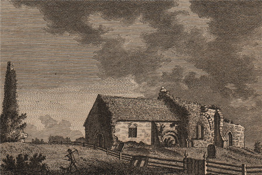 Associate Product BRAMBROUGH, or, Bramber Church, Sussex. GROSE 1776 old antique print picture