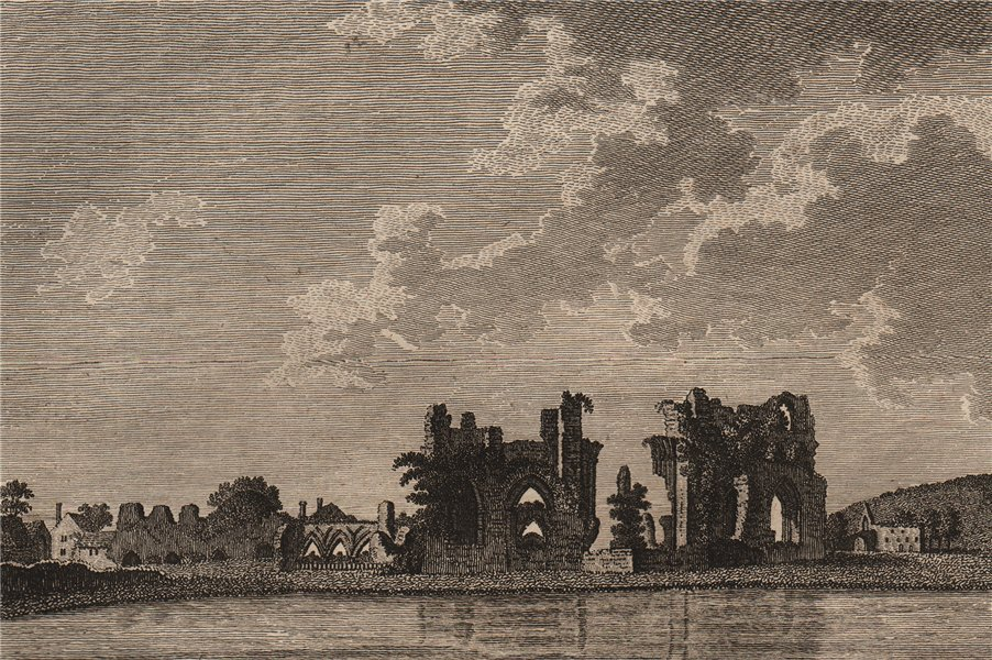 Associate Product BAYHAM ABBEY. 'Begeham or Beyham Abbey, Sussex'. GROSE 1776 old antique print