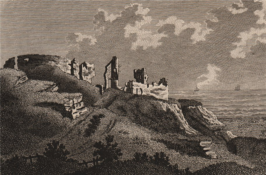 Associate Product HASTINGS CASTLE, Sussex. Plate 2. GROSE 1776 old antique vintage print picture