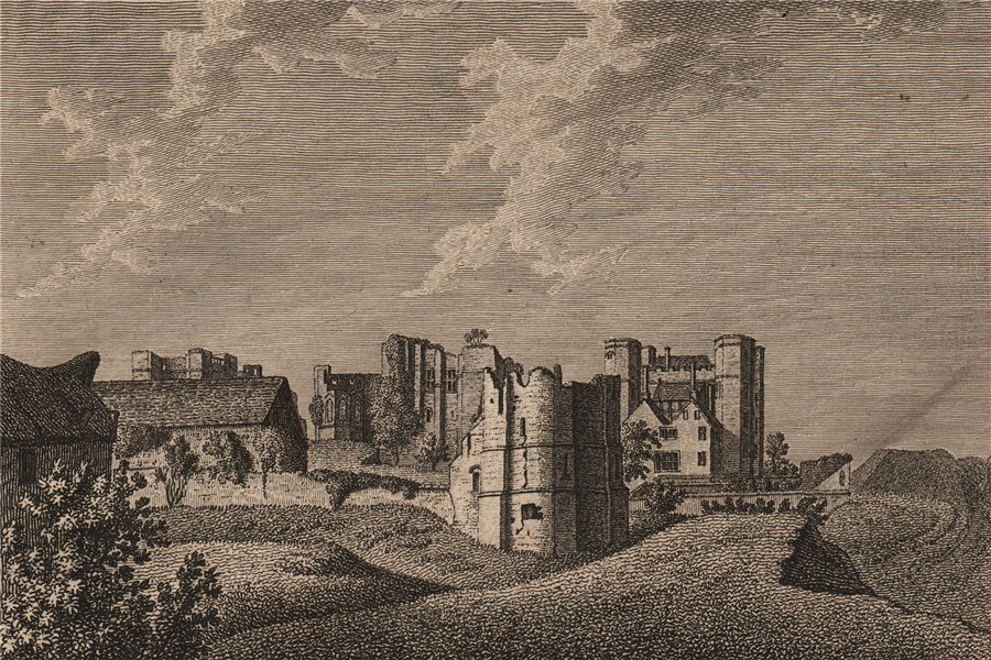 Associate Product KENELWORTH CASTLE, Warwickshire. Plate 2. GROSE 1776 old antique print picture