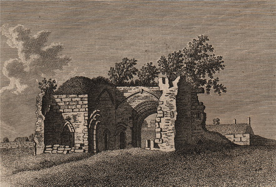 Associate Product KENILWORTH PRIORY, Warwickshire. GROSE 1776 old antique vintage print picture