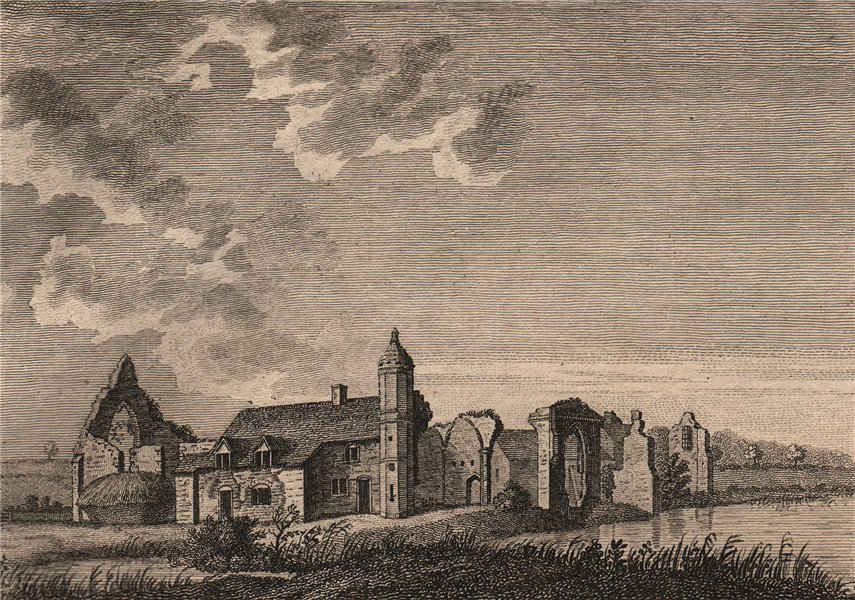 Associate Product DUDLEY PRIORY, Worcestershire. Plate 1. GROSE 1776 old antique print picture