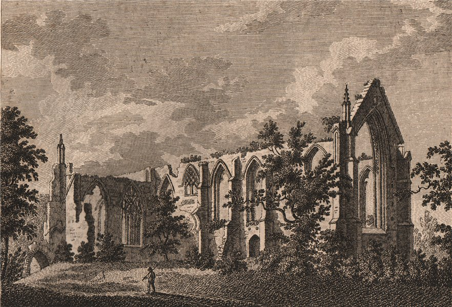Associate Product BOLTON PRIORY, in Craven, Yorkshire. GROSE 1776 old antique print picture