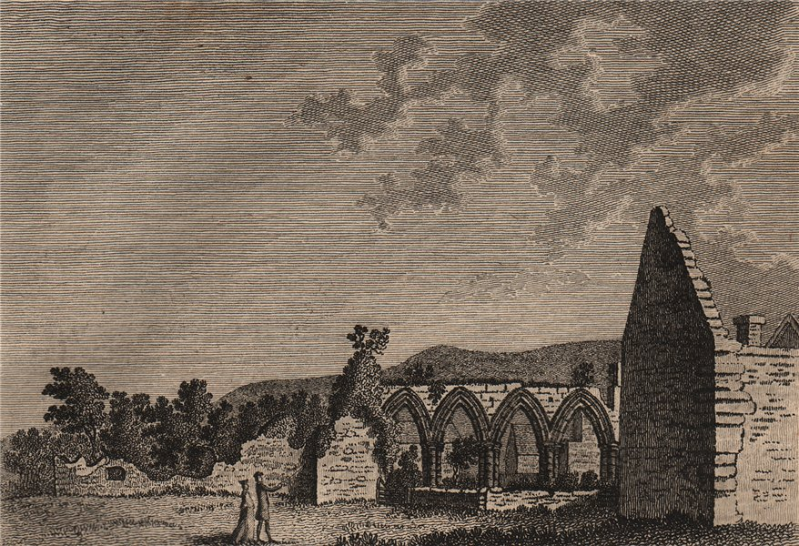 Associate Product COVERHAM ABBEY, Coverdale, Middleham, Yorkshire. Plate 2. GROSE 1776 old print