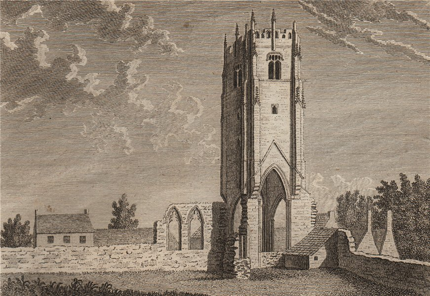 Associate Product THE MONASTERY OF THE GREY FRIARS, Richmond, Yorkshire. GROSE 1776 old print