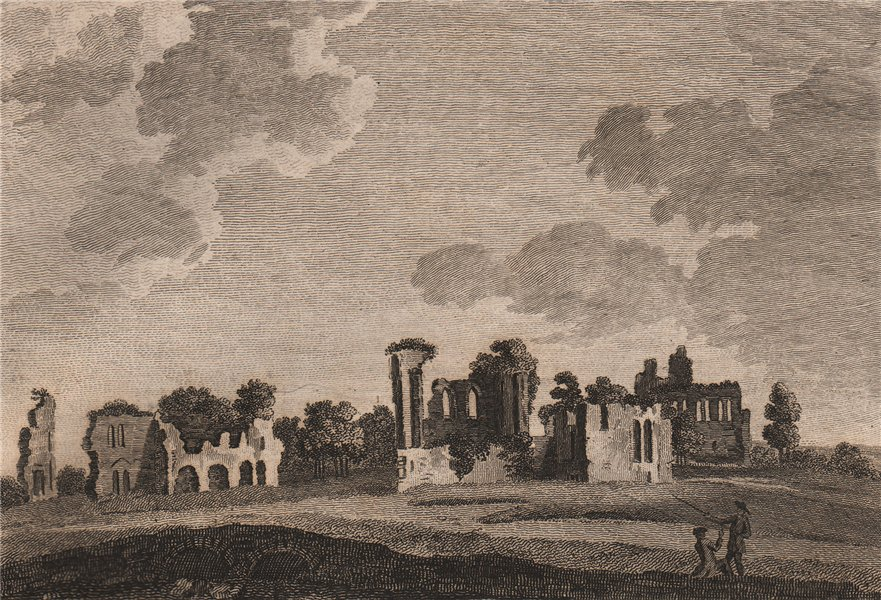 Associate Product JERVAULX ABBEY. 'Joreval, Jervaux, or Gervis Abby, Yorkshire'. GROSE 1776