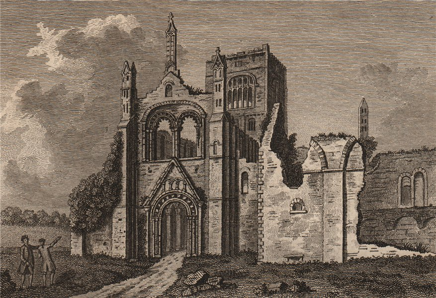 Associate Product KIRKSTALL ABBEY, Yorkshire. Plate 2. GROSE 1776 old antique print picture
