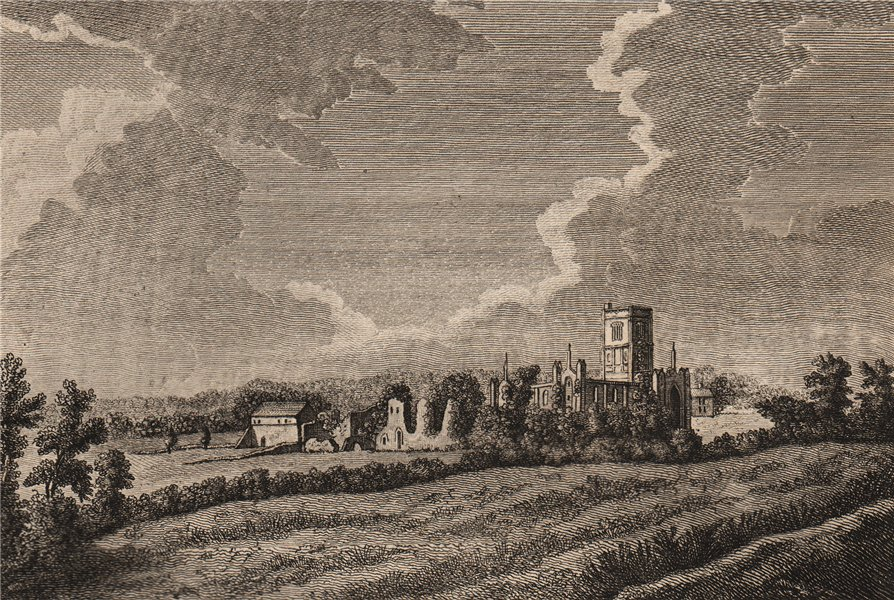 Associate Product KIRKSTALL ABBEY, Yorkshire. Plate 3. GROSE 1776 old antique print picture