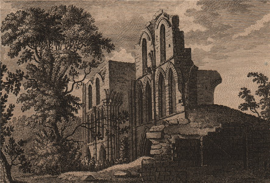 Associate Product ROCHE ABBEY. 'Roch Abbey, Yorkshire'. GROSE 1776 old antique print picture