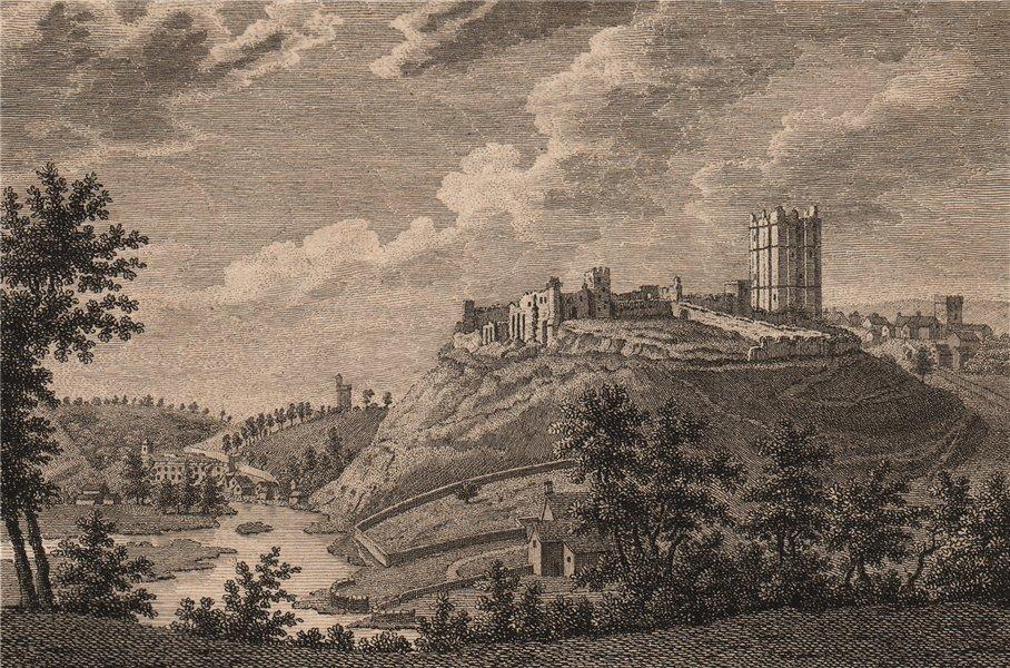 Associate Product RICHMOND CASTLE, Yorkshire. GROSE 1776 old antique vintage print picture