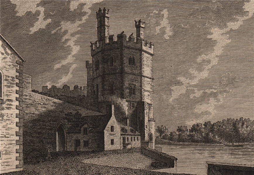 CAERNARVON CASTLE, North Wales. Caenarfon. Plate 2. GROSE 1776 old print