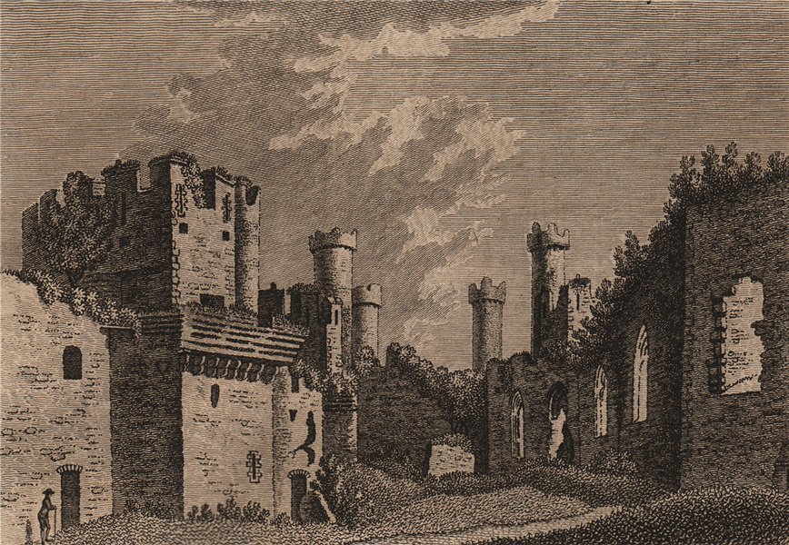 Associate Product CONWY CASTLE. 'Conway Castle, in Caernarvonshire'. Plate 2. GROSE 1776 print